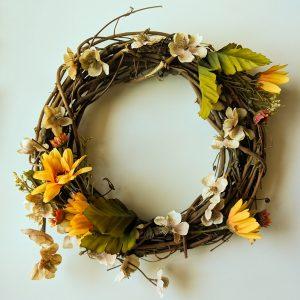 Finished fall wreath