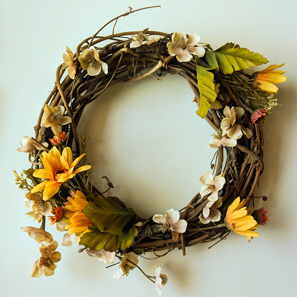 Finished fall wreath