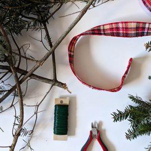 DIY Christmas wreath materials