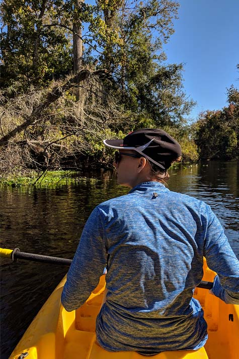 A very Potter Thanksgiving Cait kayaking