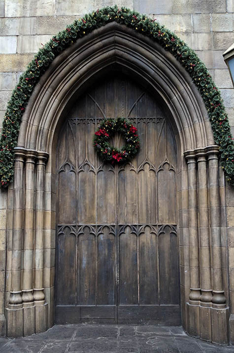 A very Potter Thanksgiving Christmas Door