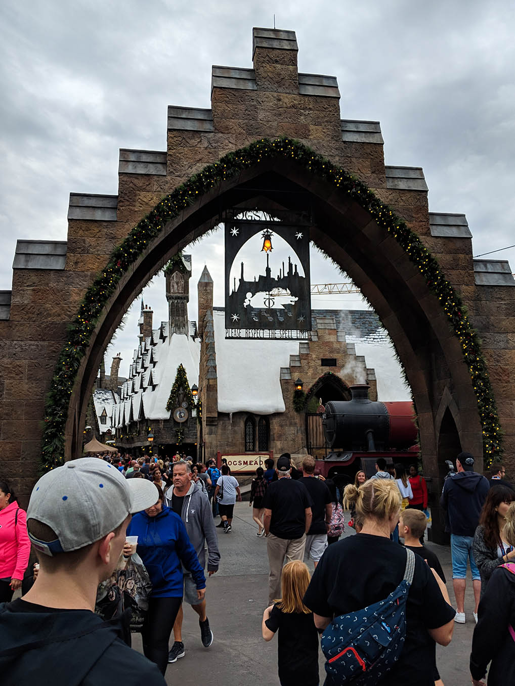 A very Potter Thanksgiving Hogsmeasde Entrance