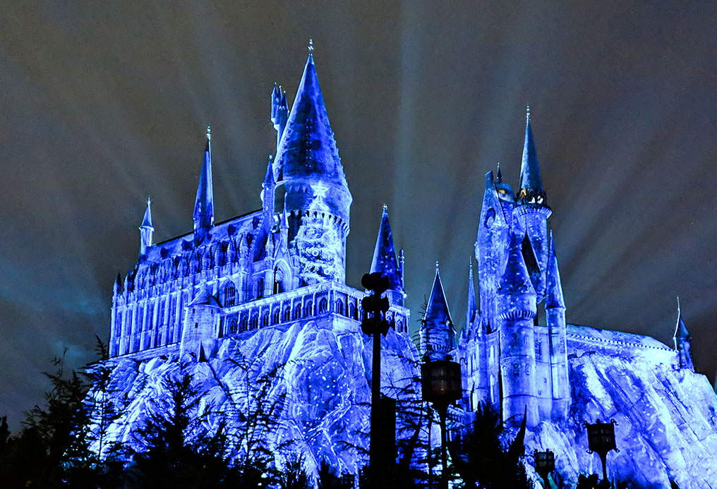 A very Potter Thanksgiving Hogwarts Ice lights