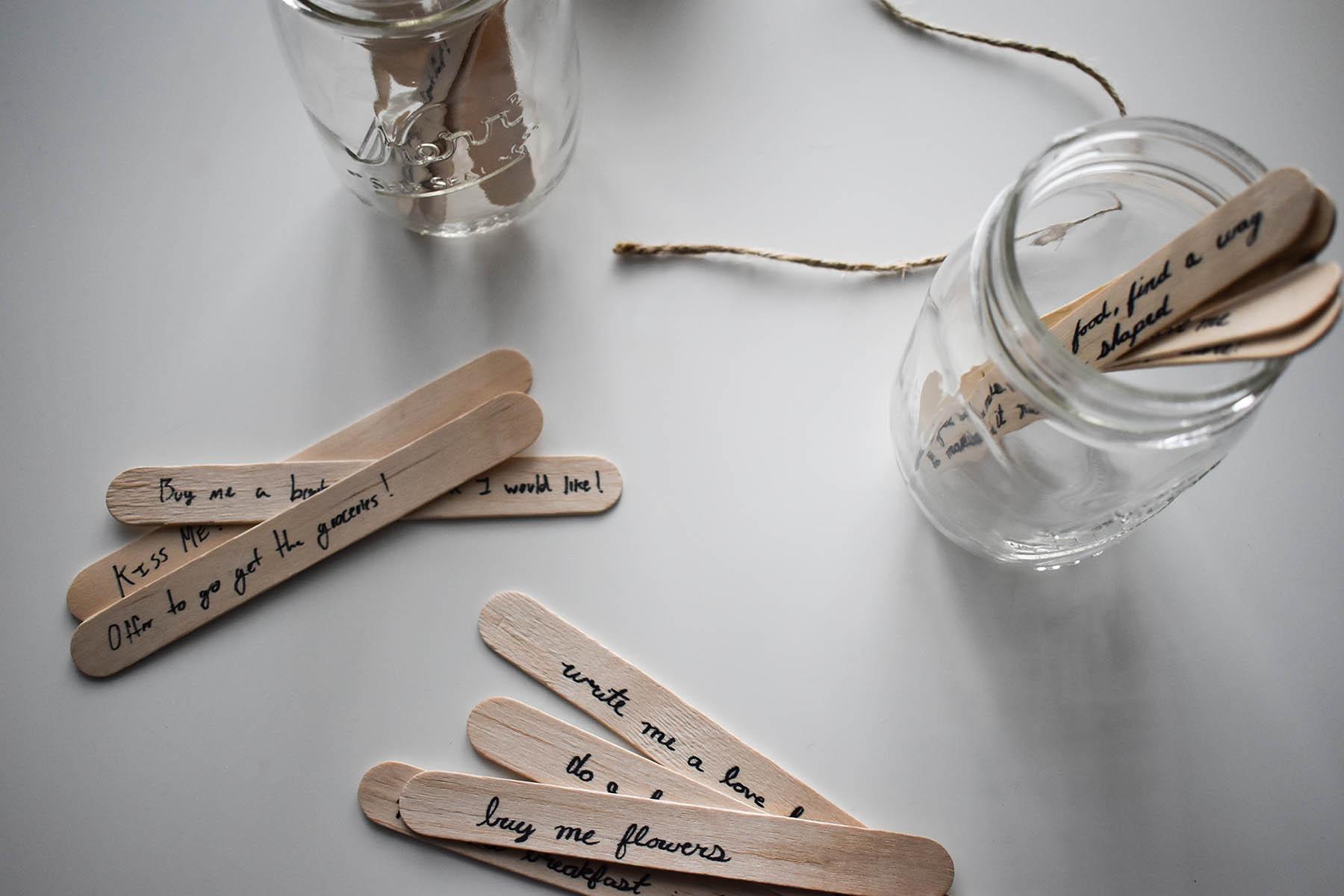 jars of love popsicle sticks