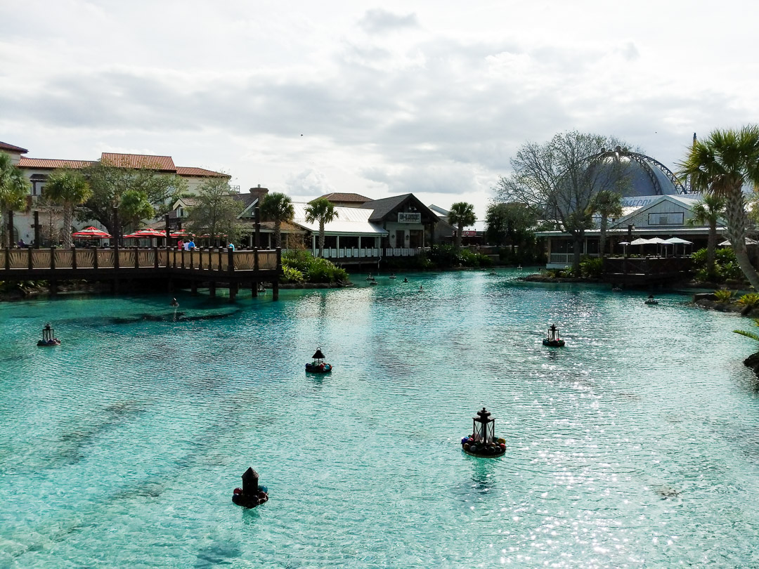 Disney Springs Lagoon view before the Michael Buble concert