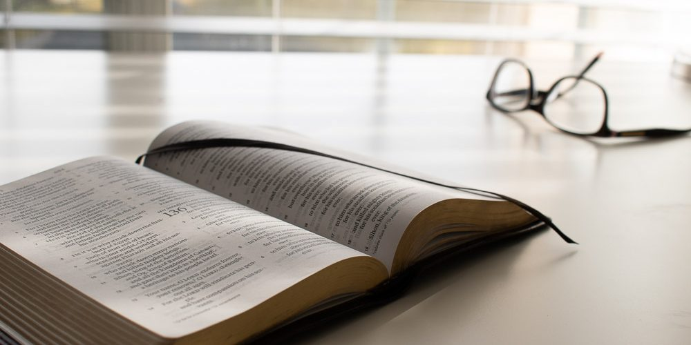 My story: bible and glasses
