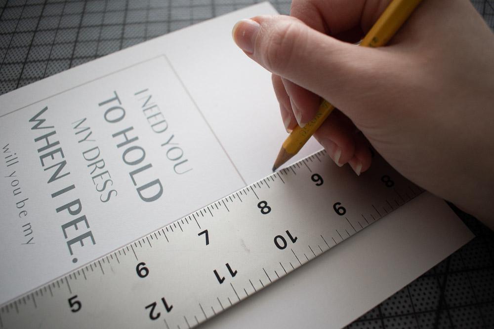 DIY Bridesmaid Proposal Measuring