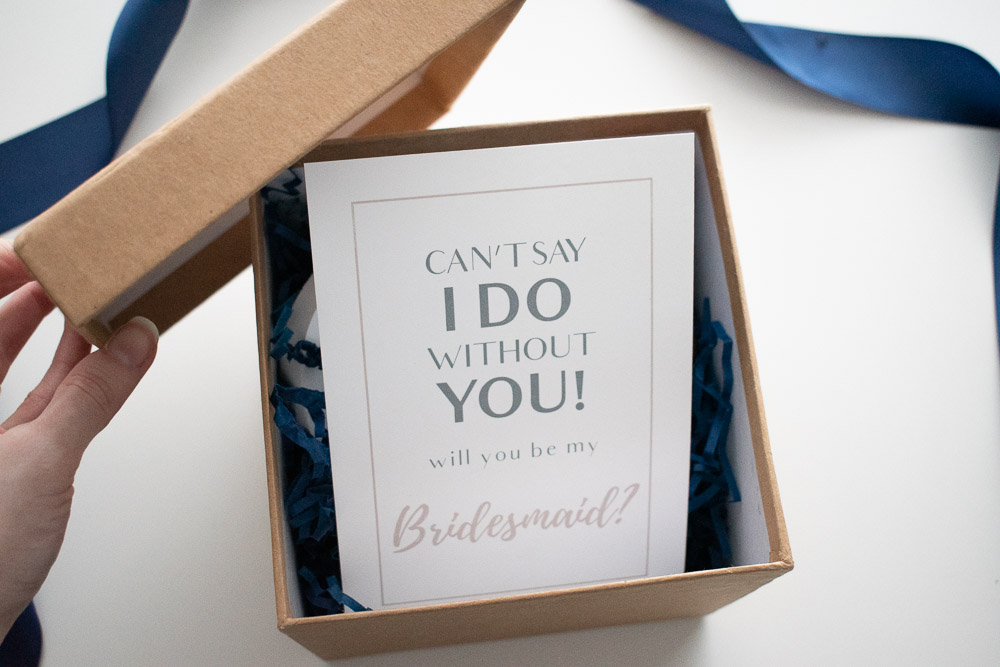 DIY Bridesmaid Proposal Box Reveal