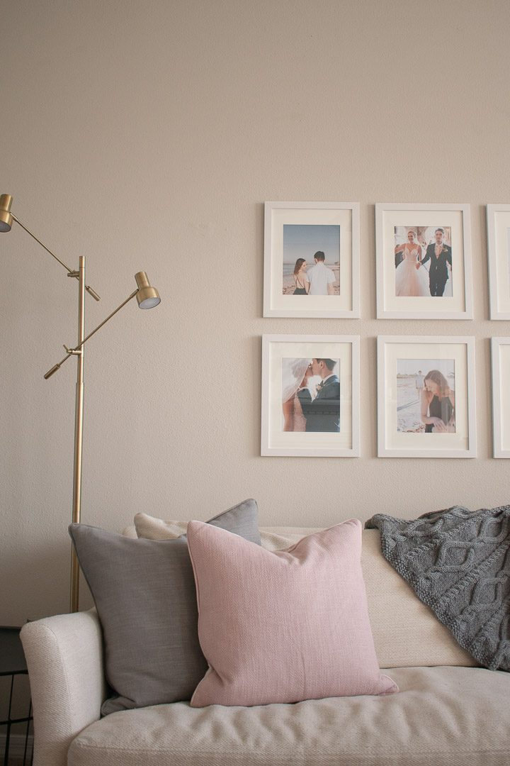 Living Room Lamp and Gallery Wall