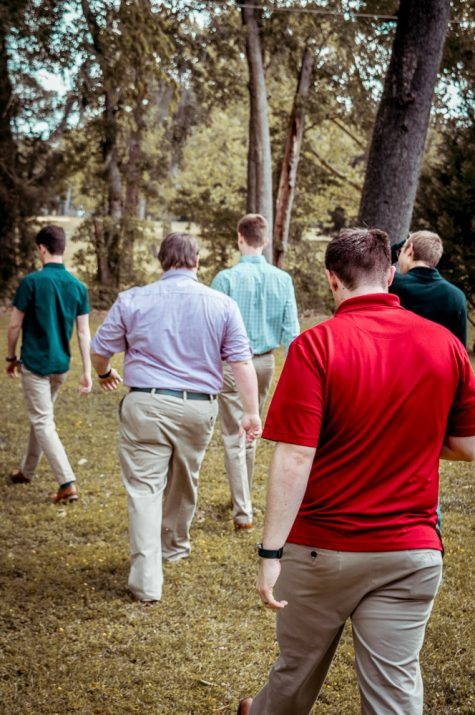 Wedding Shower Groomsmen Walking