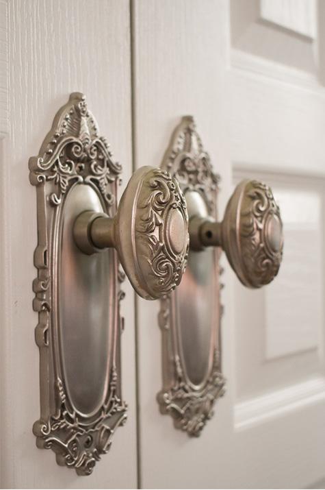one-year anniversary suite: closet doorknobs