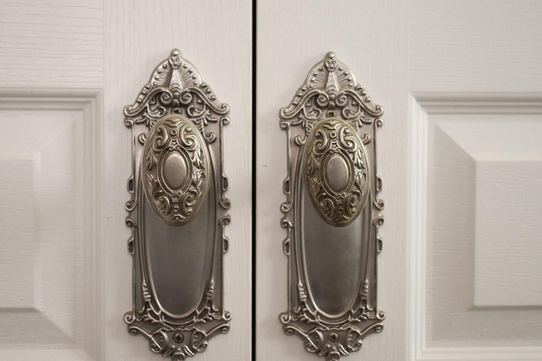 one-year anniversary suite: antique door knobs