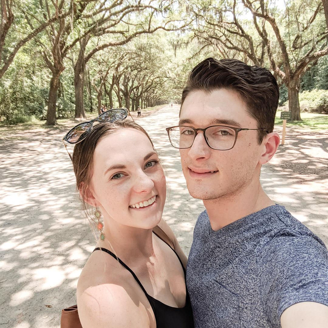 one-year anniversary selfie on Oak Avenue