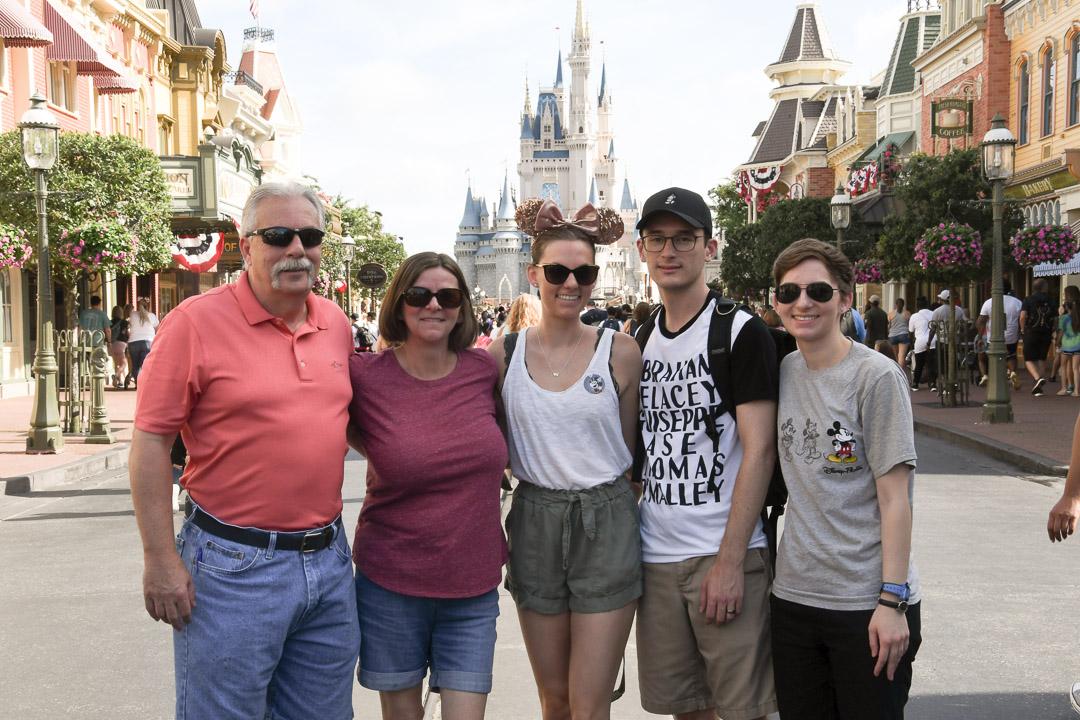Magic Kingdom Trip Family Picture infront of Castle