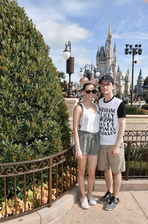 Magic Kingdom Trip_Alex and Cait in front of castle
