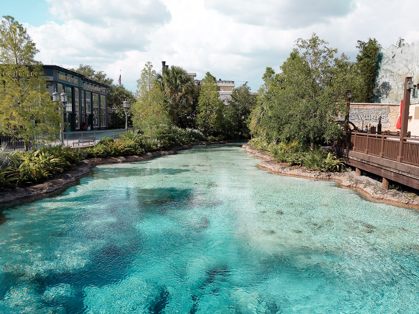 Disney Springs Reopening lagoon